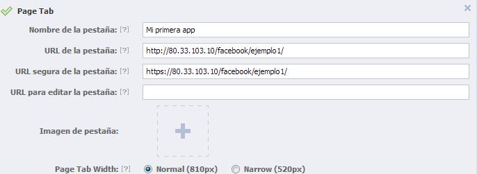 Datos de Page Tab