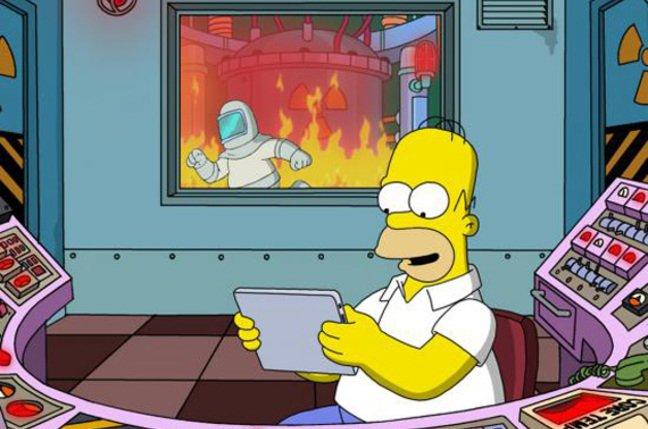 Homer mirando una WebApp