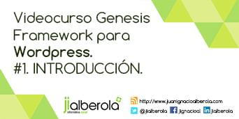 #1. Videocurso sobre Genesis Framework. Introducción.