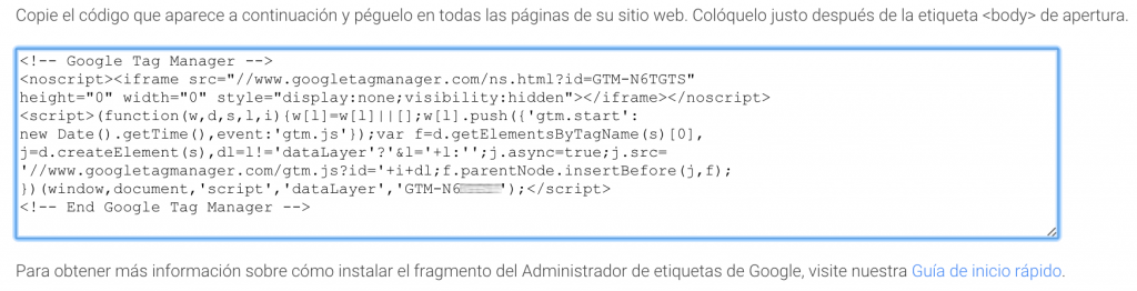 contenedor tag manager