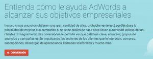 Conversiones AdWords